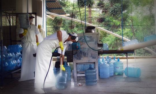Processo de pré-lavagem | Água Mineral Lucema