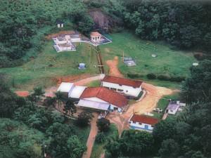 Imagem aérea da fonte de água mineral Lucema